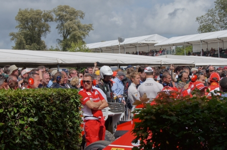 30th June 2012 at Goodwood Festival of Speed, West Sussex, England. F1 champion red, ver Sebastian Vettel celebrity appearance at the show  Editorial