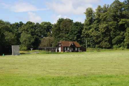 Cricket Pavilion on English Village Green photo
