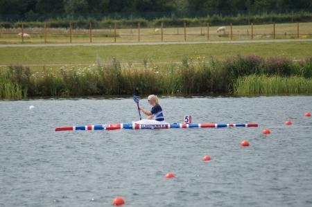 finalistin: Rachel Cawthorn Team GB Womens K1 Kajak einzigen 500m Finalist f�r den 2012 Olympischen Spiele in London, Eton Dorney, England am 7. August 2012 Editorial