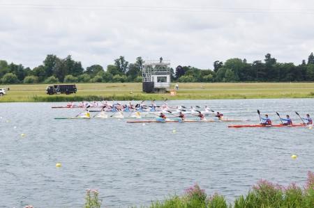 Men�s kayak four Winners Australia, Hungry & Czech Republic 1000m for the 2012 London Olympic Games, Eton Dorney, England on 7th August 2012