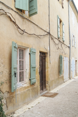伝統的なテラスで Lavardens、フランス ホーム 写真素材
