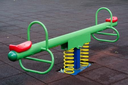 Modern colorful children playground in public park Stock Photo - 15278311