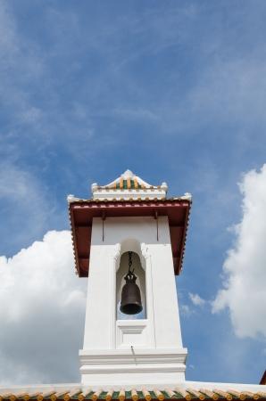 vihara: BANGKOK - OCTOBER 5: Image of Temple Bell taken on October 5, 2012 at Wat Bowonniwet Vihara Rajavaravihara, Bangkok, Thailand.