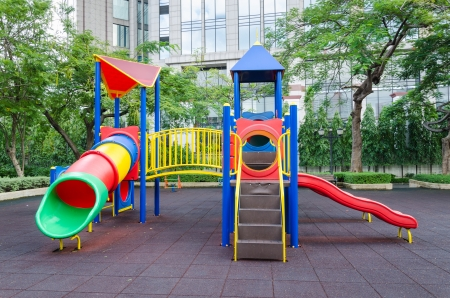 Modern colorful children playground in public park Stock Photo - 15695750