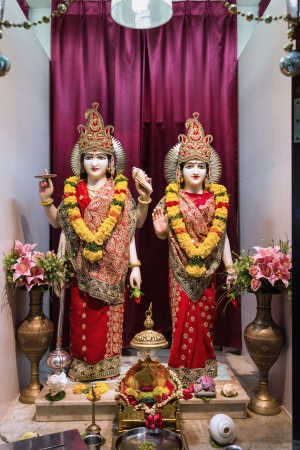 vedas: Lord Vishnuji of Sri Lakshminarayan Temple in Singapore, a place of faith, devotion, worship, love, peace and harmony