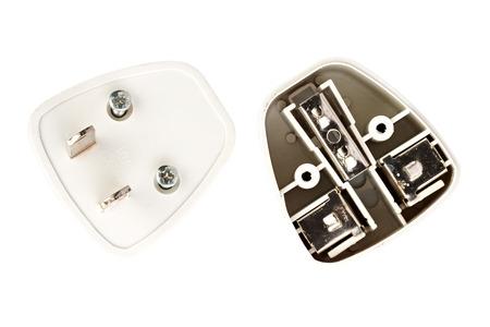 splitter: inside universal power adapter, non standard Stock Photo