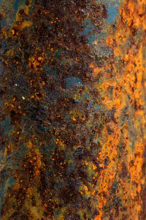 oxidized: Oxidized on surface of metal for background or wallpaper Stock Photo