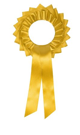 winners ribbon isolated on white Stock Photo