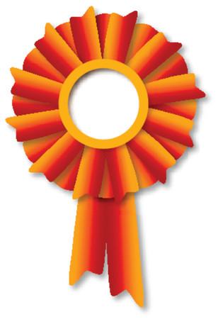 red winner`s ribbon