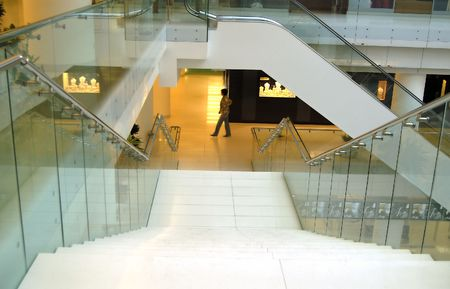 stairs in modern luxury  commercial and bussiness centre  photo