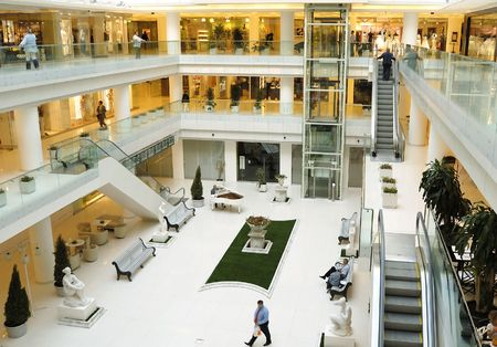 hall of modern luxury commercial and bussiness centre