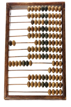 unnecessary: old abacus isolated on white background Stock Photo