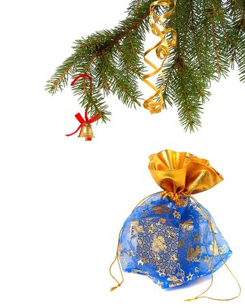 Chrismas gift isolated on white