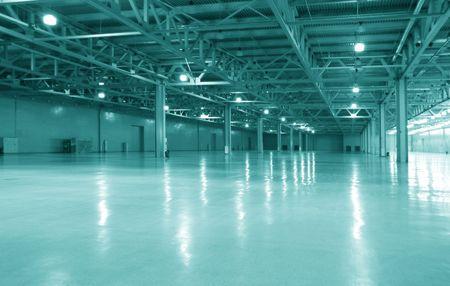 warehouse interior: moderno magazzino vuoto Archivio Fotografico