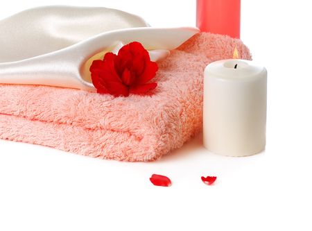 spa still life  on white background Stock Photo - 3439191