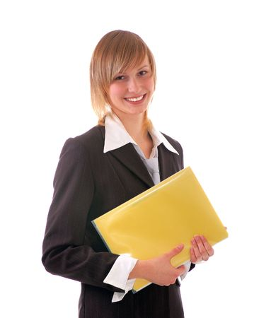 smilling:  attractive smilling young business girl  Stock Photo