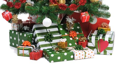 Christmas gifts under decorated fir tree   Stock Photo - 3908766