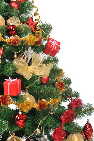 decorated Christmas fir tree with gifts Stock Photo - 3936929