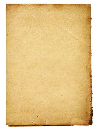 ingialliti vecchio foglio di carta strappata