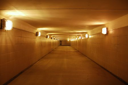 underground passage: empty underground passage Stock Photo