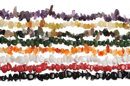 treads of colorful semiprecious stone neclklaces photo