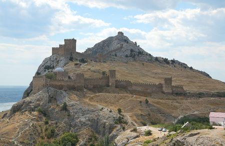 genoese:  general view at Genoese fortress in Crimea
