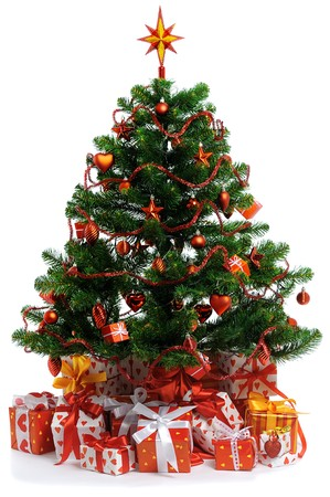 decorated Christmas tree Stock Photo - 7969975