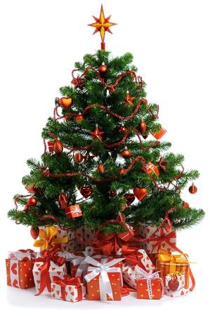 decorated Christmas tree Stock Photo - 7969975