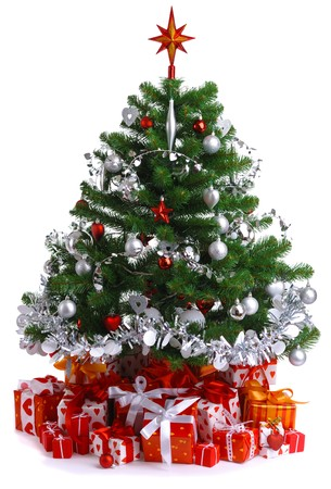 decorated Christmas tree Stock Photo - 7969969