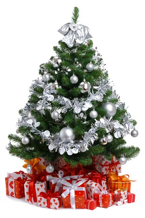 decorated Christmas tree  Stock Photo - 8224225