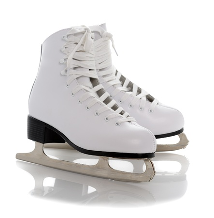 figure white skates isolated on white background photo