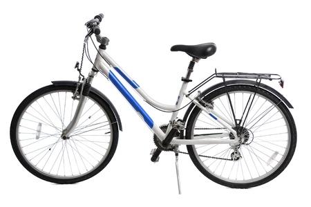 mountain bicycle: biciclette di montagna isolata su sfondo bianco Archivio Fotografico