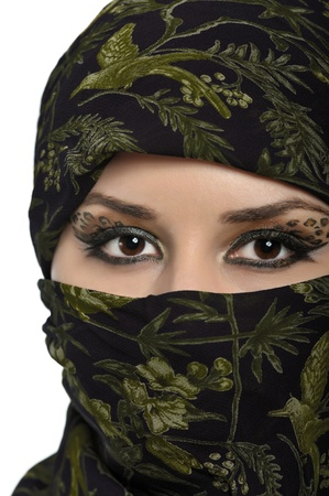 portrait of beautiful eastern woman photo