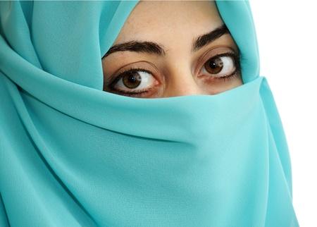 niqab: portrait of beautiful eastern woman