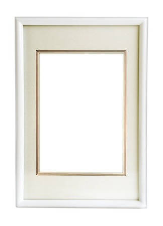 simple frame: white  modern  photo frame isolated on white background Stock Photo