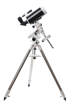 telescope isolated on white background Stock Photo - 18460225