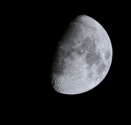 close up moon surface with details photo