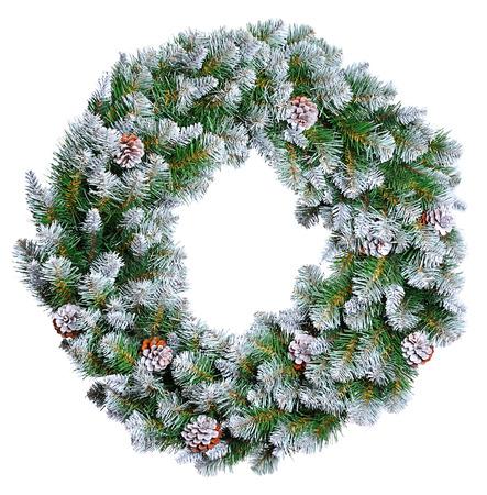 coronas de navidad: Corona de Navidad aislado en blanco