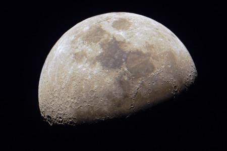 close up maanoppervlak met de details Stockfoto