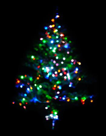 amarillo y negro: brillante �rbol de navidad en negro