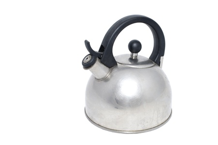 Tea pot placed on a white background photo