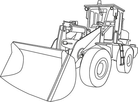 道路機械 ベクターイラストレーション