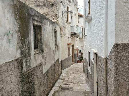 foggia: An alley of Peschici, Foggia, Italy