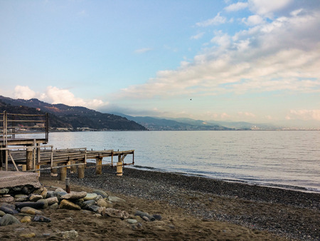 december: December to the sea, Arenzano GE, Italy Stock Photo