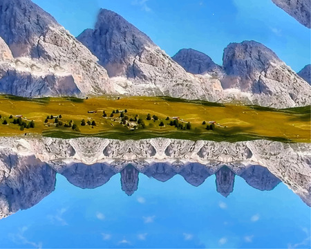 Illustration of the skyline, skyline abstraction. Stock Illustration - 118504920