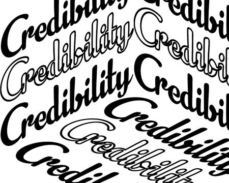 credibility inscription. Inspirational quote, motivation. Typography for t shirt, invitation, greeting card sweatshirt printing and embroidery. Print for tee. There is beauty in simplicity. Illustration