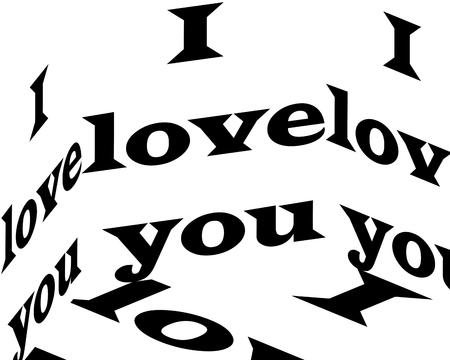 i love you inscription. Inspirational quote, motivation. Typography for t shirt, invitation, greeting card, sweatshirt printing and embroidery. Print for tee. There is beauty in simplicity. Stock Vector - 122378173