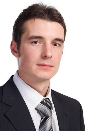 whitem: businessman isolated on white close up