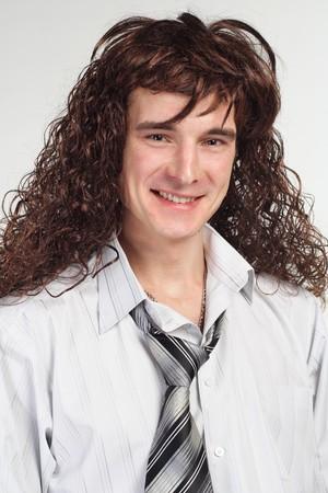 whitem: Party funny businessman isolated Stock Photo
