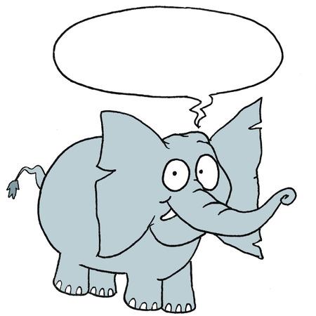 Speaking cute elephant Vector